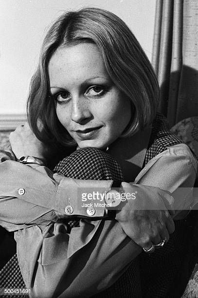 Iconic 1960s fashion model Twiggy photographed in Manhattan in 1971
