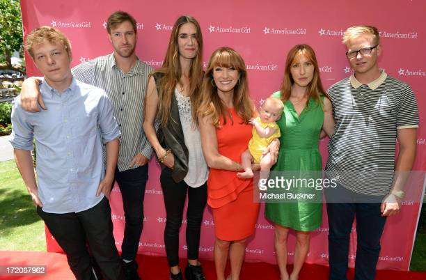 Iconic actress Jane Seymour and her family attend 'An American Girl Saige Paints The Sky' Movie Premiere at American Girl Place The Grove on June 28...