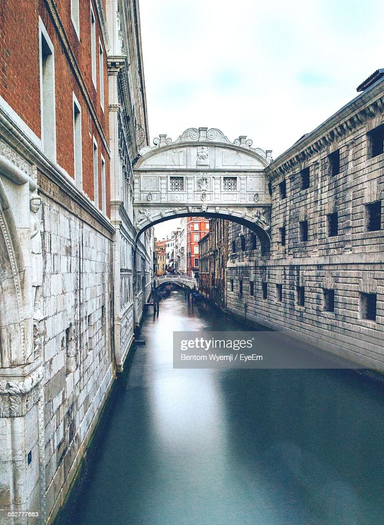 Iconic Bridge Of Sighs Over Canal