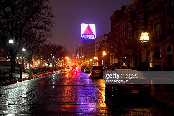 Iconic Citgo Sign in Kenmore Square in Boston