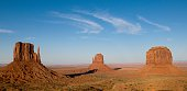 Iconic landscape in the Monument Valley