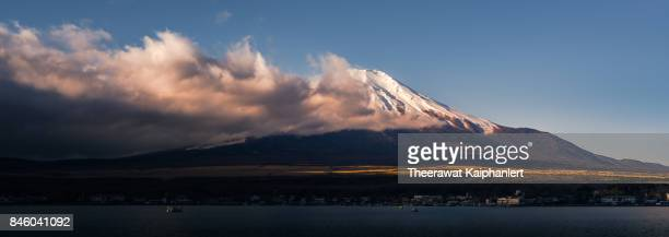 Iconic Mount Fuji of Japan in the morning