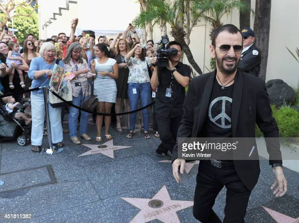 Iconic Rock Star Ringo Starr attends John Varvatos and Ringo Starr's announcement of their special collaboration on occasion of Ringo's birthday at...