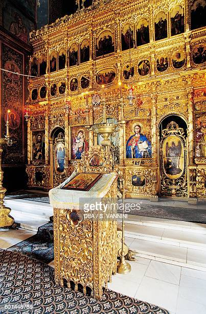 Iconostasis in the Cathedral of Sts Constantine and Helen Bucharest Romania 17th19th century