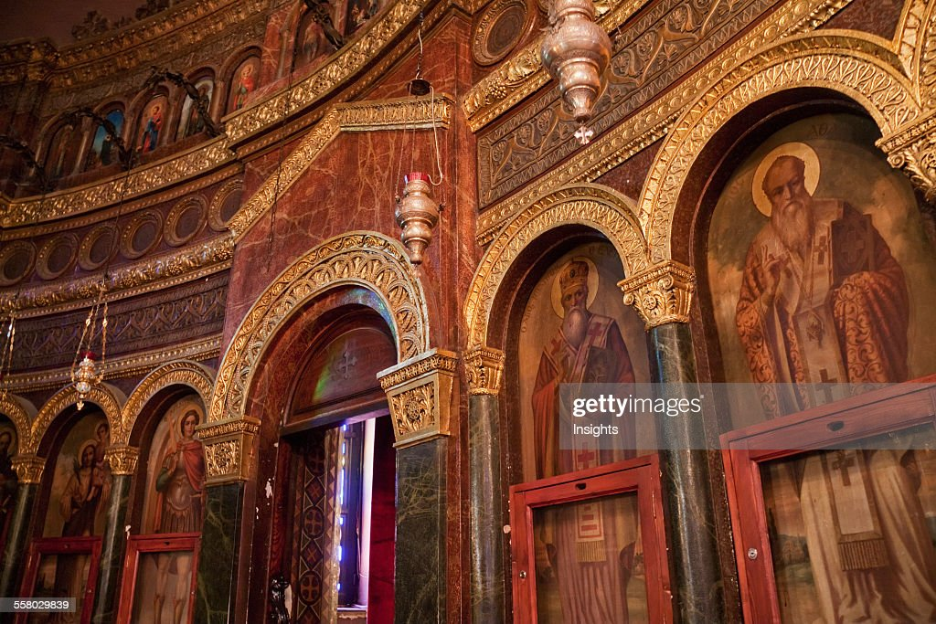Icons In The Church Of St George Cairo Al Qahirah Egypt