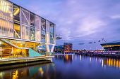 Ictoria Docks Cable Cars and the Crystal, London