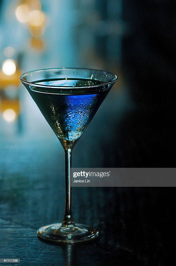 Icy Blueberry Mist Martini