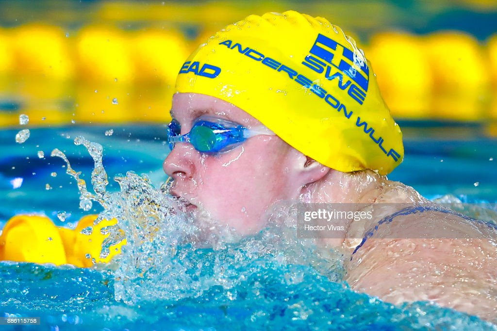 ida andersson of sweden competes in womens 100 m breaststroke sb6 during day 2 of the