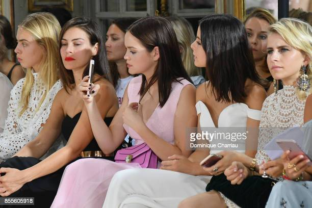 Ida Immendorff Oda Jaune Emilia Schule Lena MeyerLandrut and Caroline Daur attend the Kaviar Gauche Bridale Couture Collection 2018 'La Vie En Rose'...