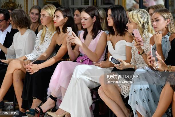 Ida Immendorff Oda Jaune Emilia Schule Lena MeyerLandrut Caroline Daur and Nina Suess attend the Kaviar Gauche Bridale Couture Collection 2018 'La...