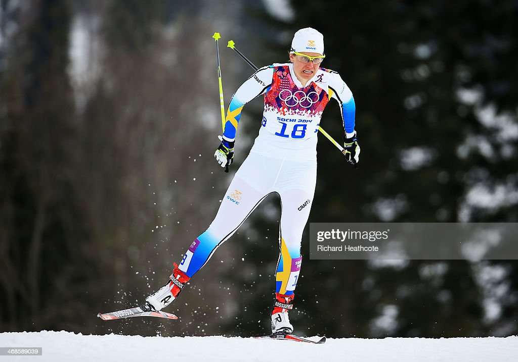 <a gi-track='captionPersonalityLinkClicked' href=/galleries/search?phrase=Ida+Ingemarsdotter&family=editorial&specificpeople=5640296 ng-click='$event.stopPropagation()'>Ida Ingemarsdotter</a> of Sweden competes in Qualification of the Ladies' Sprint Free during day four of the Sochi 2014 Winter Olympics at Laura Cross-country Ski & Biathlon Center on February 11, 2014 in Sochi, Russia.