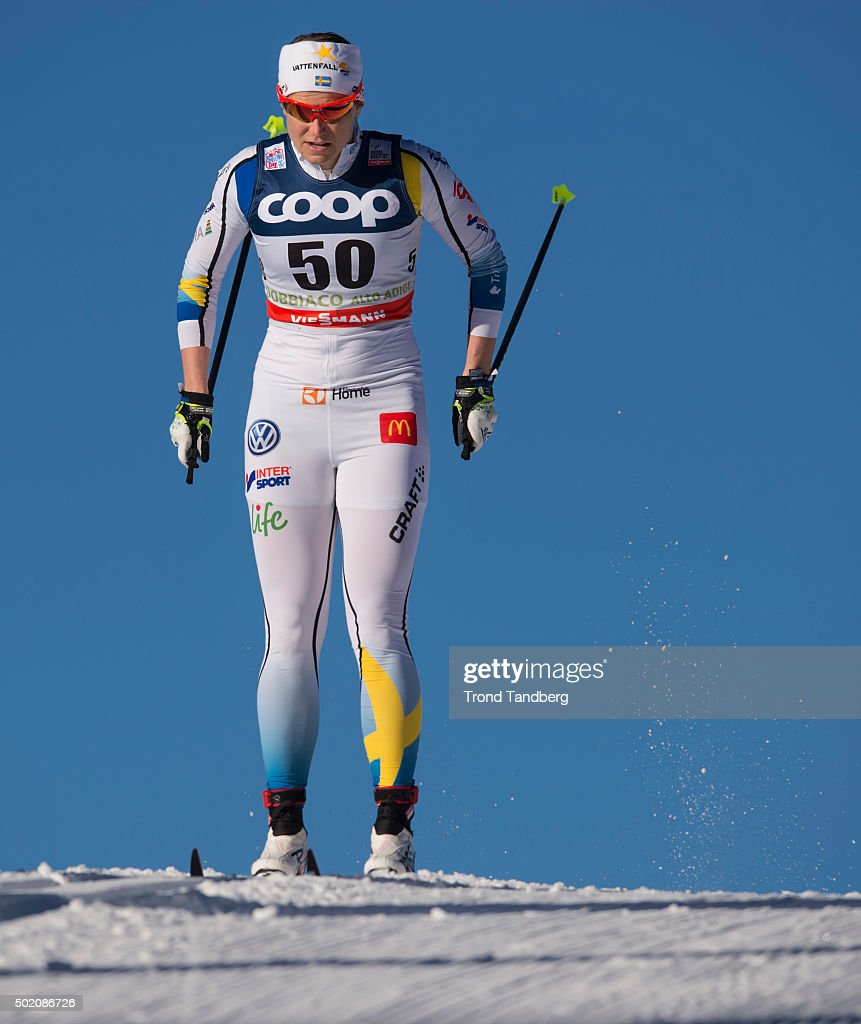 <a gi-track='captionPersonalityLinkClicked' href=/galleries/search?phrase=Ida+Ingemarsdotter&family=editorial&specificpeople=5640296 ng-click='$event.stopPropagation()'>Ida Ingemarsdotter</a> of Sweden during FIS Cross Country World Cup Ladies 10.0 km Individual Start at Toblach on December 20, 2015 in Toblach Hochpustertal, Italy.
