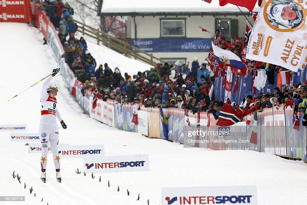 Ida Ingemarsdotter of Sweden takes the silver medal during the FIS Nordic World Ski Championships Women's Sprint on February 21, 2013 in Val di Fiemme, Italy.
