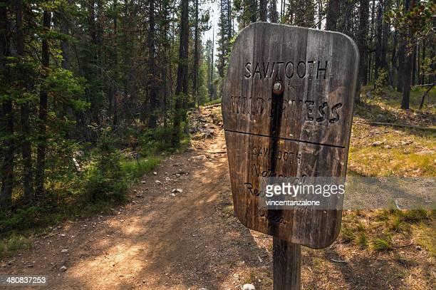 USA, Idaho, Custer County, Stanley, Blick auf die alte hölzerne