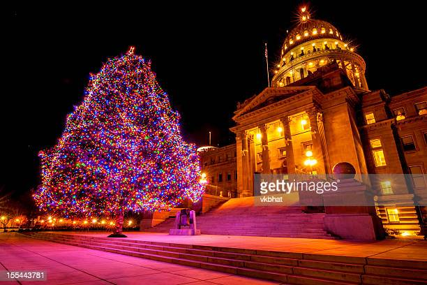 Idaho State Capitol and Christmas tree