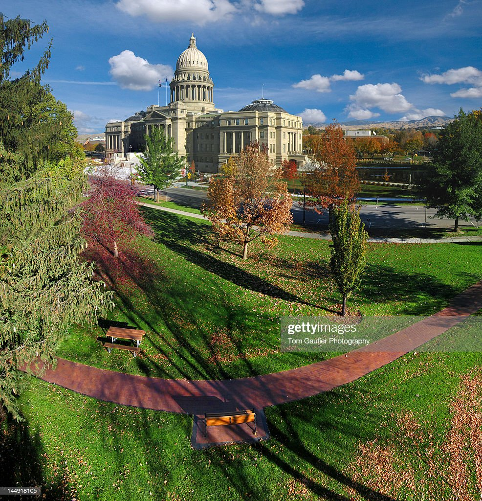 Idaho State Capitol in autumn