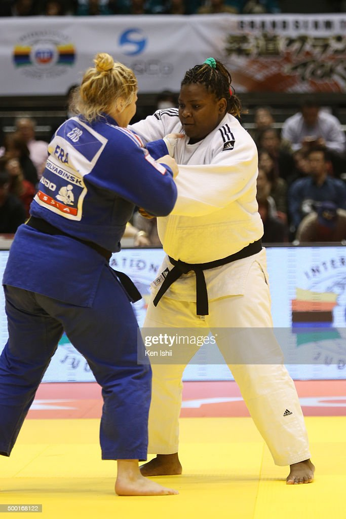 <a gi-track='captionPersonalityLinkClicked' href=/galleries/search?phrase=Idalys+Ortiz&family=editorial&specificpeople=5492242 ng-click='$event.stopPropagation()'>Idalys Ortiz</a> of Cuba (white) and Marine Erb of France compete in the Women's +78kg preliminary at Tokyo Metropolitan Gymnasium on December 6, 2015 in Tokyo, Japan.