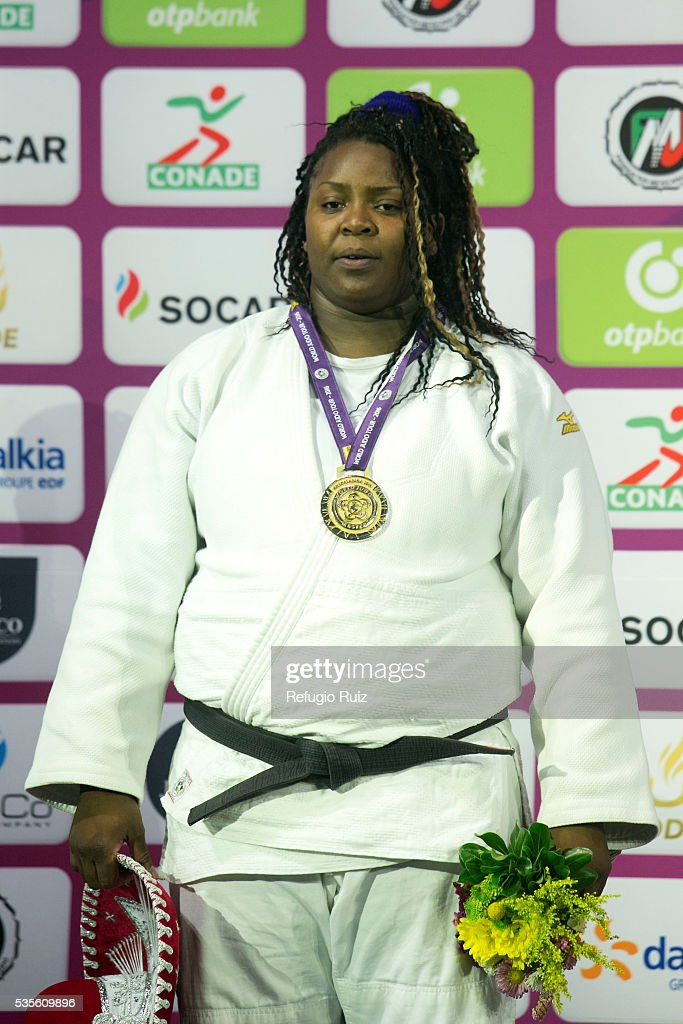 <a gi-track='captionPersonalityLinkClicked' href=/galleries/search?phrase=Idalys+Ortiz&family=editorial&specificpeople=5492242 ng-click='$event.stopPropagation()'>Idalys Ortiz</a> of Cuba (Gold medal) pose after the women's + 78kg competition as part of the World Judo Masters Guadalajara 2016 at Adolfo Lopez Mateos Sports Centre on May 29, 2016 in Gudalajara, Mexico.