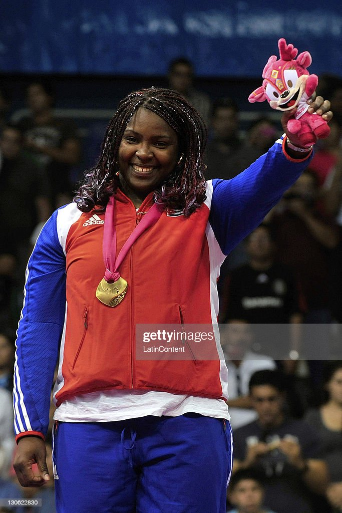 <a gi-track='captionPersonalityLinkClicked' href=/galleries/search?phrase=Idalys+Ortiz&family=editorial&specificpeople=5492242 ng-click='$event.stopPropagation()'>Idalys Ortiz</a> of Cuba won the gold medal at the Judo women's +78kg of the 2011 XVI Pan American Games at the Gym Code II on October 26, 2011 in Guadalajara, Mexico.