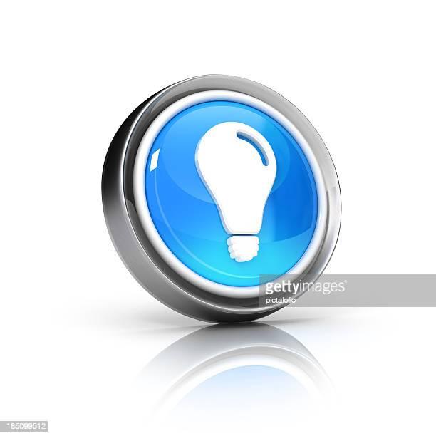 Idee-Glühbirne Symbol