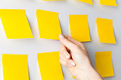 Business people meeting and use post it notes to share idea