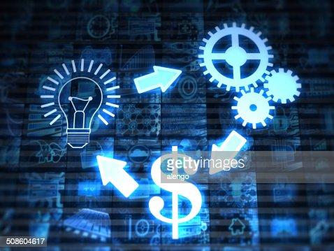 Idea, solución, dinero : Foto de stock