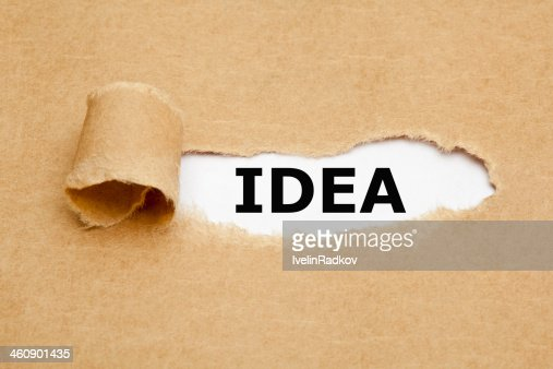 Idea Torn Paper : Stock Photo