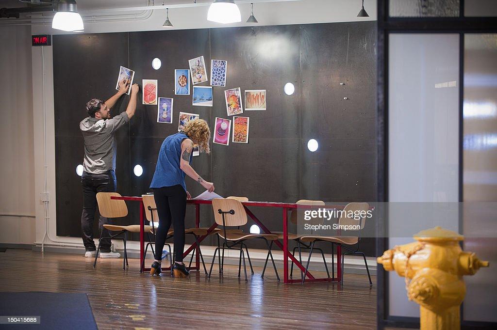 idea/brainstorming room, graphic design office : Stock Photo