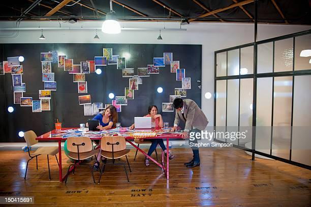 idea/brainstorming room, graphic design office