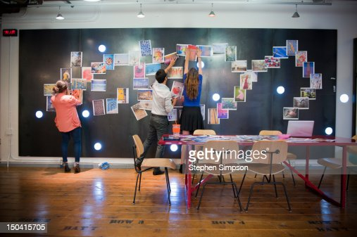 ideabrainstorming room graphic design office stock photo getty