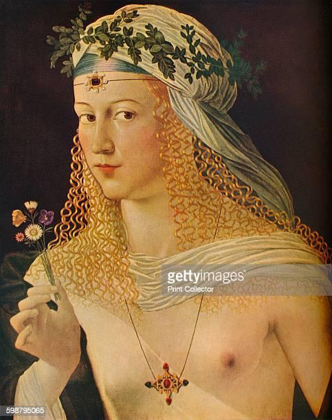 Idealized Portrait of a Courtesan as Flora circa 1520 From The Connoisseur Volume 102 [The Connoisseur Ltd London 1938] Artist Bartolommeo Veneto