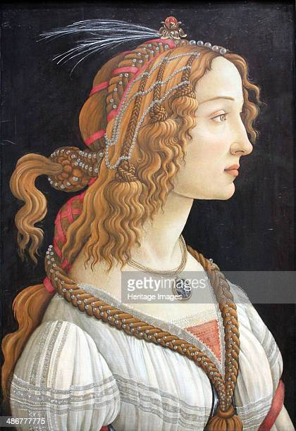 Idealized Portrait of a Lady c 1480 Artist Botticelli Sandro
