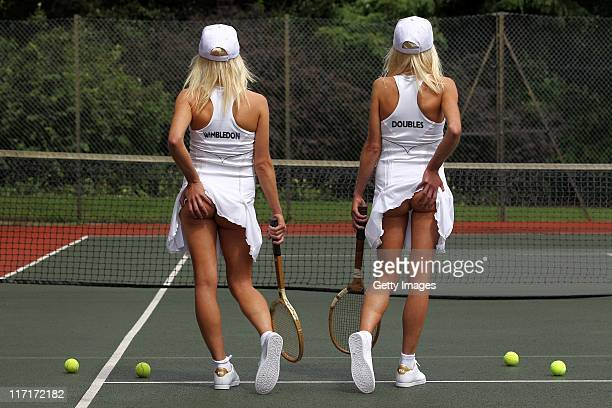 Identical twins Bryony Frost and Katherine Frost recreate the classic Athena tennis girl image to launch Wimbledon Doubles a brand new game served up...