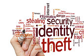 Identity theft concept word cloud background