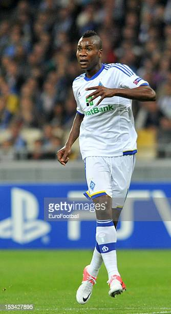 Ideye Brown of FC Dynamo Kyiv in action during the UEFA Champions League group stage match between FC Dynamo Kyiv and GNK Dinamo Zagreb at the...
