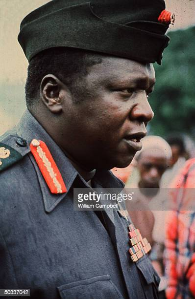 Idi Amin former dictator of Uganda now living in Saudi Arabia