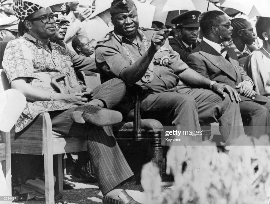 idi-amin-president-of-uganda-with-president-mobutu-sese-seko-of-zaire-picture-id2634497