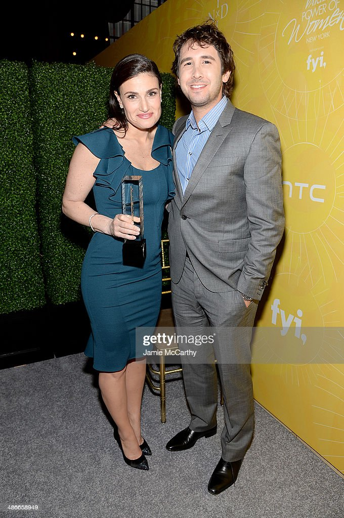 Idina Menzel and Josh Groban attend Variety Power Of Women: New York presented by FYI at Cipriani 42nd Street on April 25, 2014 in New York City.