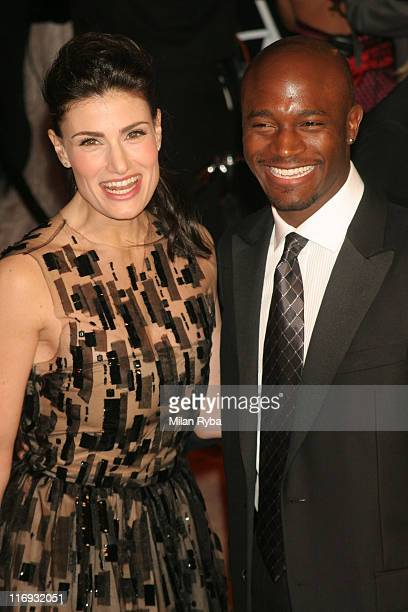 Idina Menzel and Taye Diggs during 2006 Vanity Fair Oscar Party at Morton's in West Hollywood California United States