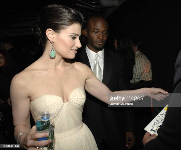 Idina Menzel and Taye Diggs during 61st Annual Tony Awards On 3 Productions Gift Suite at Radio City Music Hall in New York City New York United...