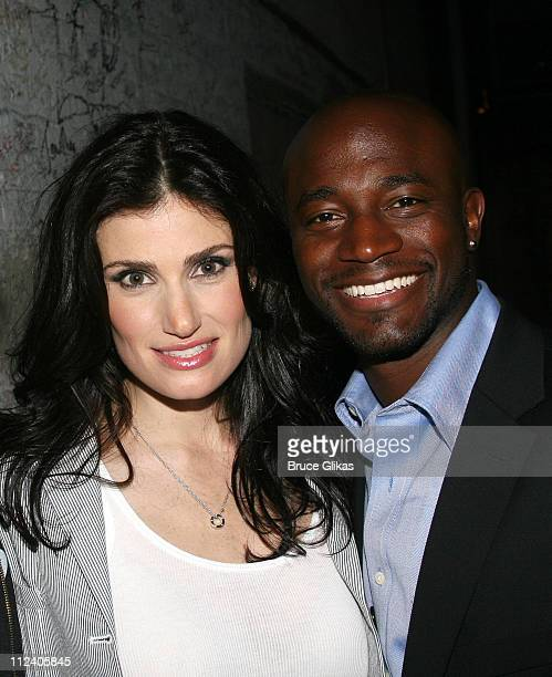 Idina Menzel and Taye Diggs during 'Rent' Celebrates 10th Anniversary on Broadway April 24 2006 at The Nederlander Theater in New York New York...