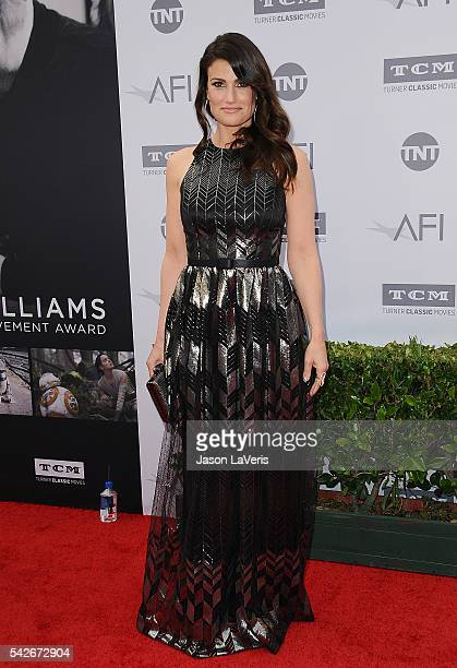 Idina Menzel attends the 44th AFI Life Achievement Awards gala tribute at Dolby Theatre on June 9 2016 in Hollywood California