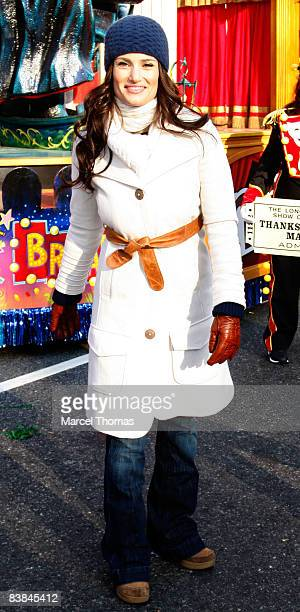 Idina Menzel attends the 82nd Annual Macy's Thanksgiving Day Parade on the streets of Manhattan on November 27 2008 in New York City
