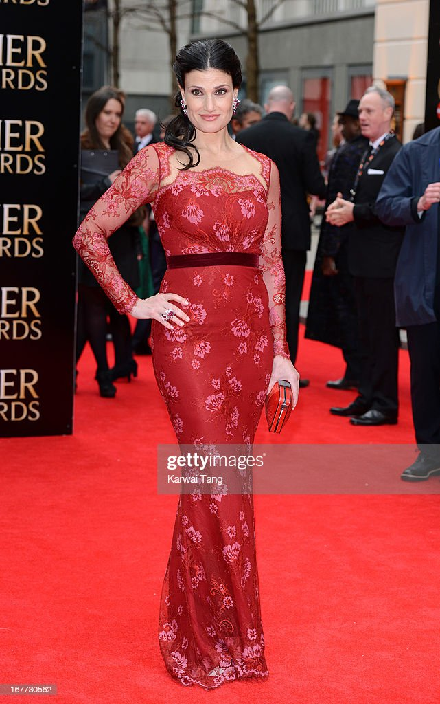 <a gi-track='captionPersonalityLinkClicked' href=/galleries/search?phrase=Idina+Menzel&family=editorial&specificpeople=213583 ng-click='$event.stopPropagation()'>Idina Menzel</a> attends The Laurence Olivier Awards at The Royal Opera House on April 28, 2013 in London, England.