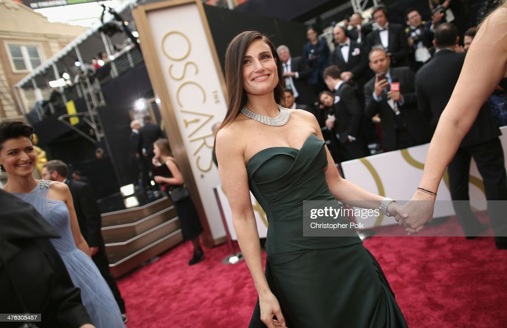 Idina Menzel attends the Oscars at Hollywood Highland Center on March 2 2014 in Hollywood California