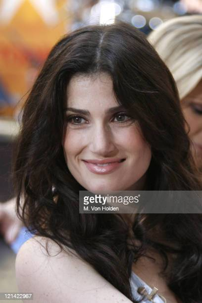 Idina Menzel during NBC Says Goodbye to Katie Couric at Rockefeller Plaza in New York New York United States