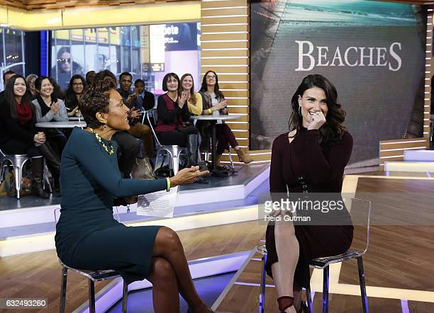 AMERICA Idina Menzel is a guest on 'Good Morning America' Monday January 23 2017 on the ABC Television Network IDINA