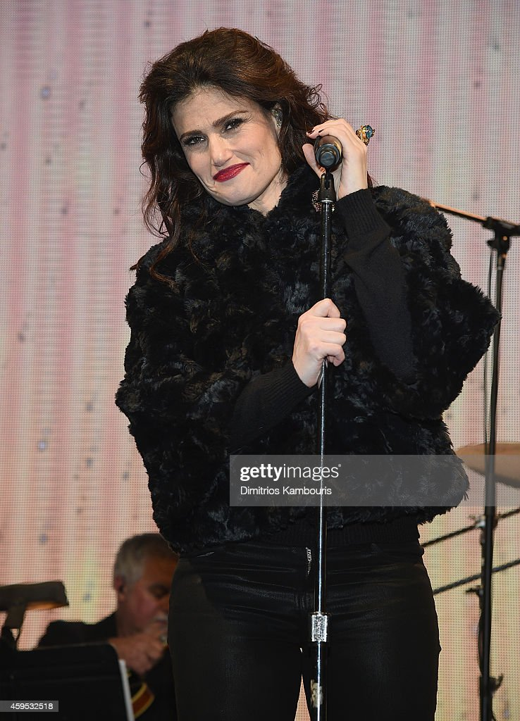 Bloomingdale's Holiday Window Unveiling With Idina Menzel