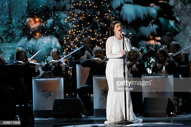 Idina Menzel performs during the CMA 2014 Country Christmas on November 7 2014 in Nashville Tennessee