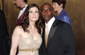Idina Menzo and Taye Diggs during 59th Annual Tony Awards Arrivals at Radio City Music Hall in New York City New York United States